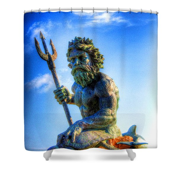 Poseidon Shower Curtain by Dan Stone