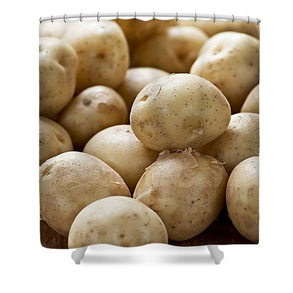 Potatoes Shower Curtain by Elena Elisseeva