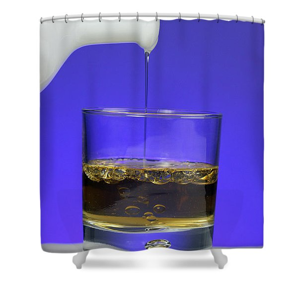 Pouring Oil Into Vinegar Shower Curtain by Photo Researchers, Inc.