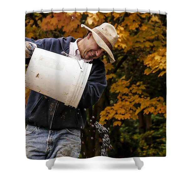 Pouring Wine Shower Curtain by Jean Noren