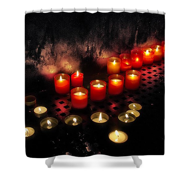prague church candles Shower Curtain by Stylianos Kleanthous