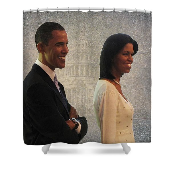 President Obama And First Lady Shower Curtain by David Dehner