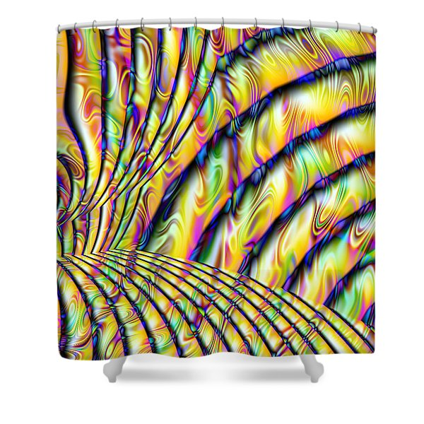 Psychedelic Fractal Shower Curtain by Gina Lee Manley