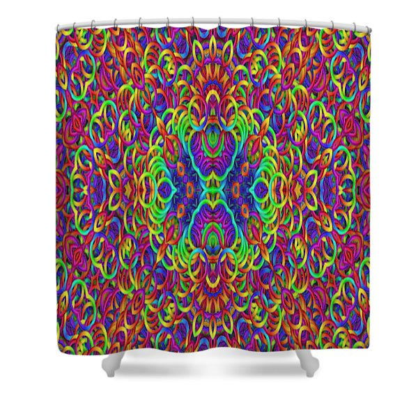 Psychedelic Kaleidoscope Shower Curtain by Gina Lee Manley