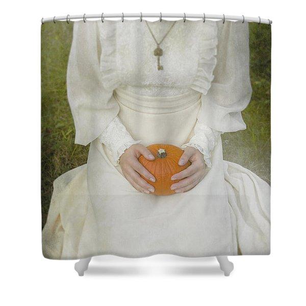 pumpkin Shower Curtain by Joana Kruse