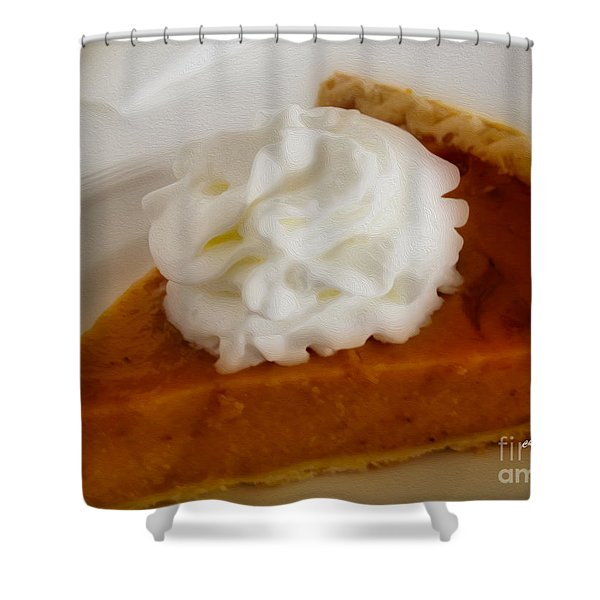Pumpkin Pie Shower Curtain by Cheryl Young