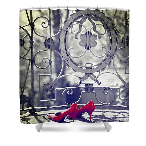 Pumps Shower Curtain by Joana Kruse