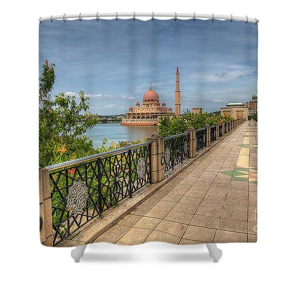 Putrajaya Lake Shower Curtain by Adrian Evans