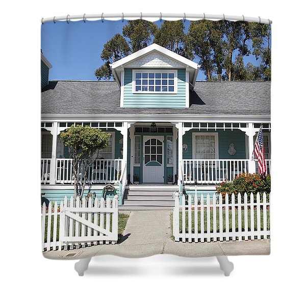 Quaint House Architecture - Benicia California - 5D18817 Shower Curtain by Wingsdomain Art and Photography