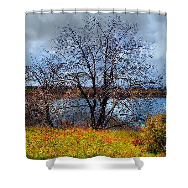 Quarry Lakes in Fremont California . 7D12636 Shower Curtain by Wingsdomain Art and Photography