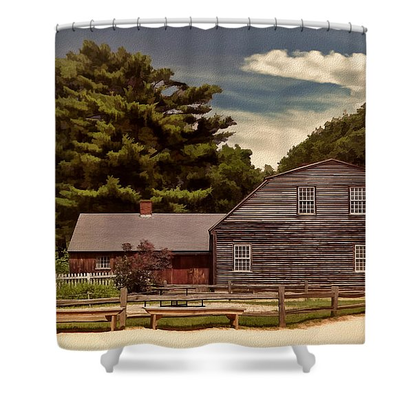 Quest In Time Shower Curtain by Lourry Legarde