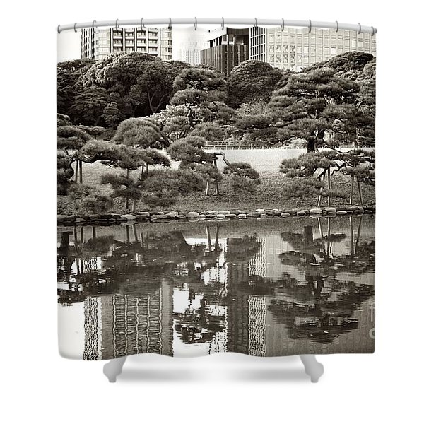 Quiet Moment In Tokyo Shower Curtain by Carol Groenen