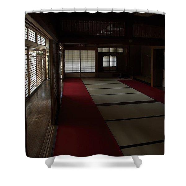 QUIETUDE of ZEN MEDITATION ROOM - KYOTO JAPAN Shower Curtain by Daniel Hagerman