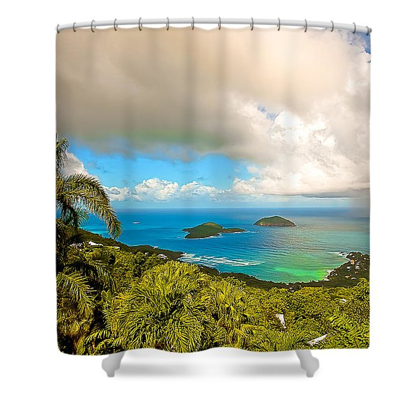 Rain in the Tropics Shower Curtain by Keith Allen