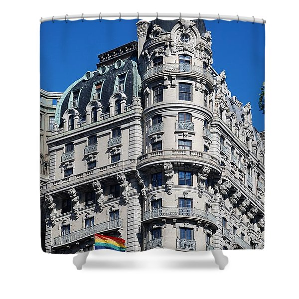 Rainbows And Architecture Shower Curtain by Rob Hans
