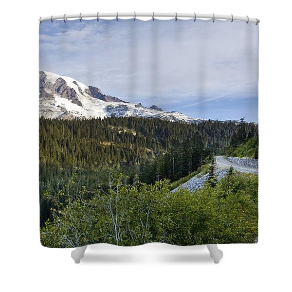 Rainier Journey Shower Curtain by Mike Reid