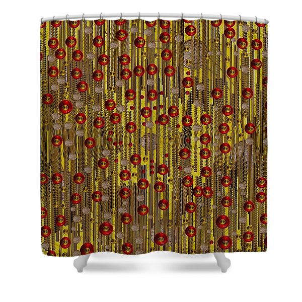 raining coins and juwels Shower Curtain by Pepita Selles