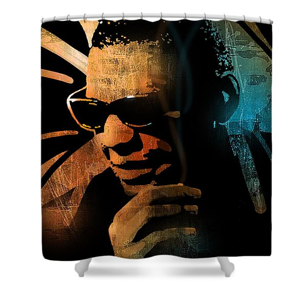 Ray Charles Shower Curtain by Paul Sachtleben