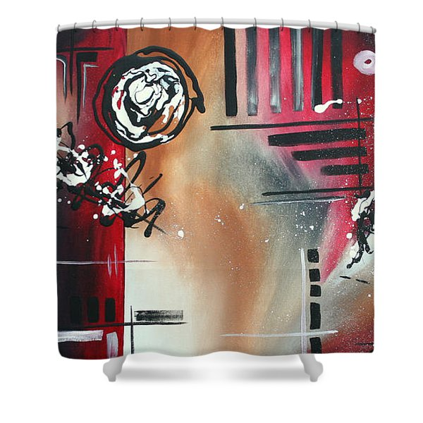 Red Divinity By Madart Shower Curtain by Megan Duncanson