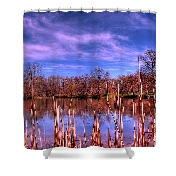 Reeds Shower Curtain by Paul Ward