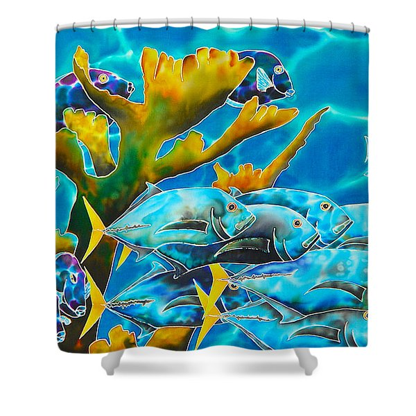 Reef Fish Shower Curtain by Daniel Jean-Baptiste