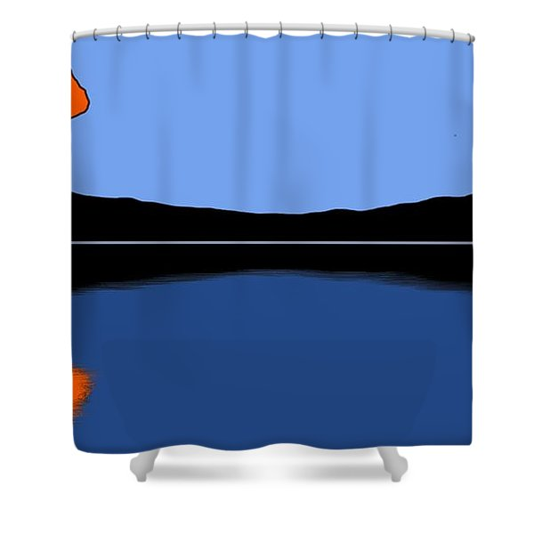 Reflection Shower Curtain by George Pedro