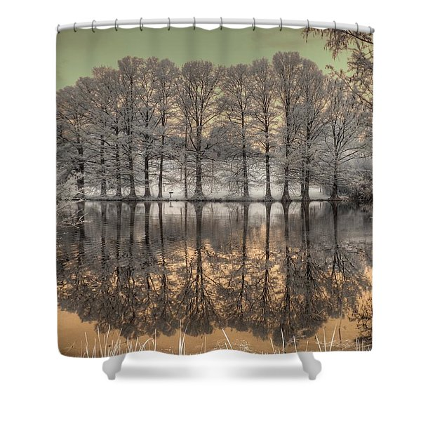 Reflections Shower Curtain by Jane Linders