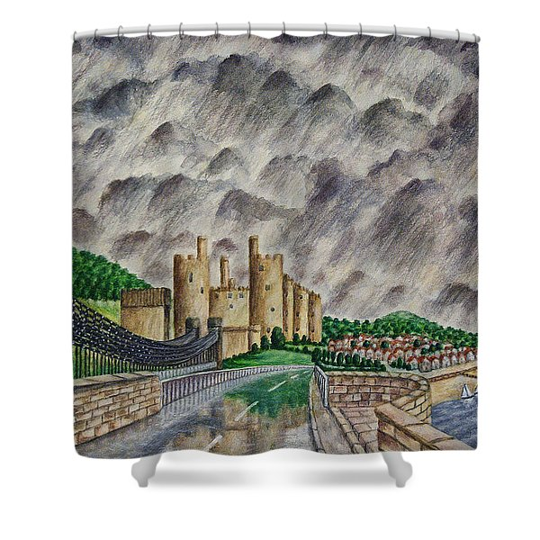 Reflections of Conway Shower Curtain by RONALD HABER