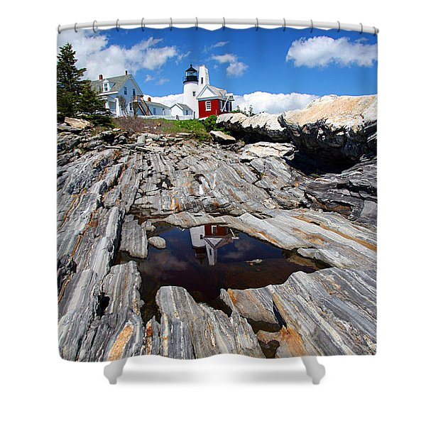 Reflections of Pemaquid Shower Curtain by Brenda Giasson