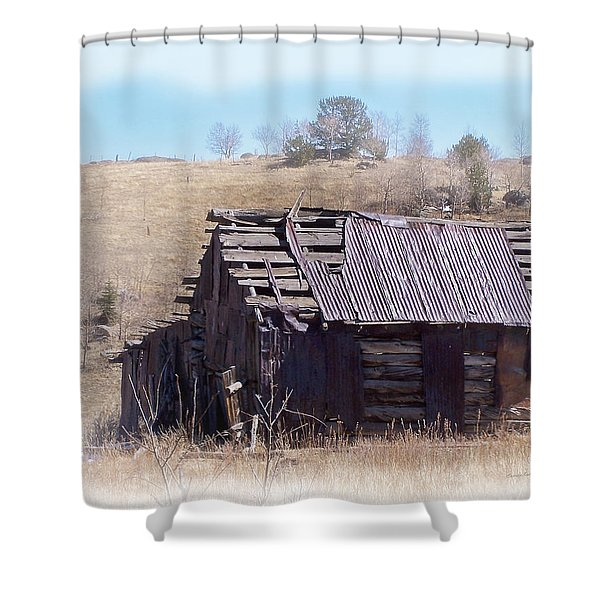Remember When Shower Curtain by Ernie Echols