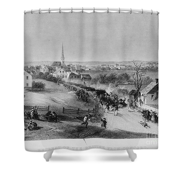 Retreat Of British From Concord Shower Curtain by Photo Researchers