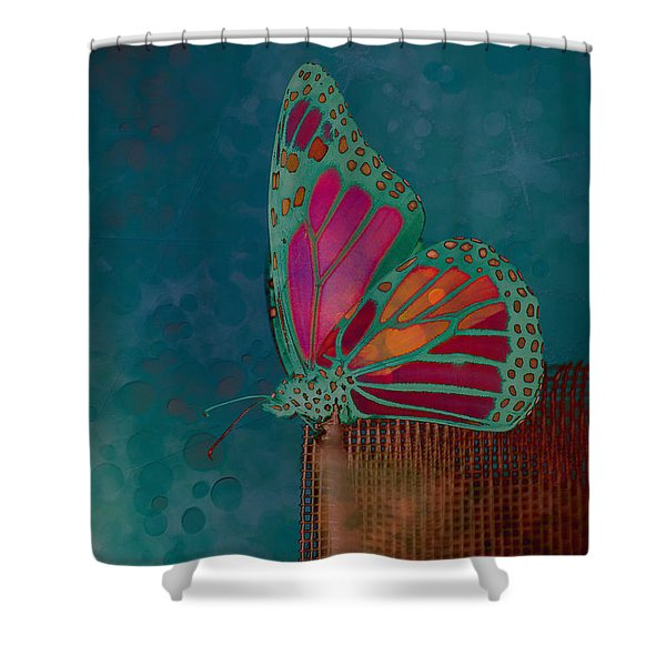 Reve de Papillon - s04bt02 Shower Curtain by Variance Collections