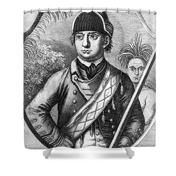 Robert Rogers, Colonial American Shower Curtain by Photo Researchers