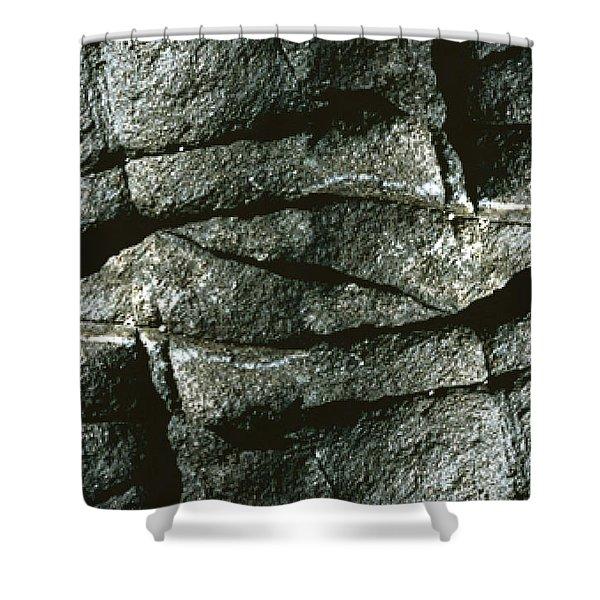 Rock Eye Of Ogunquit Shower Curtain by Nancy Griswold