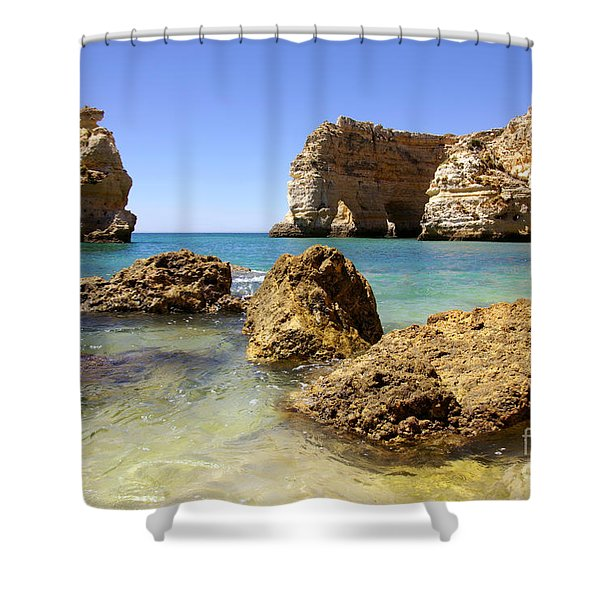 Rocky Coast Shower Curtain by Carlos Caetano