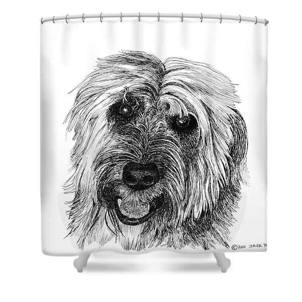 Rocky Shower Curtain by Jack Pumphrey