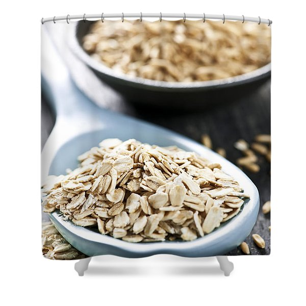 Rolled oats and oat groats Shower Curtain by Elena Elisseeva