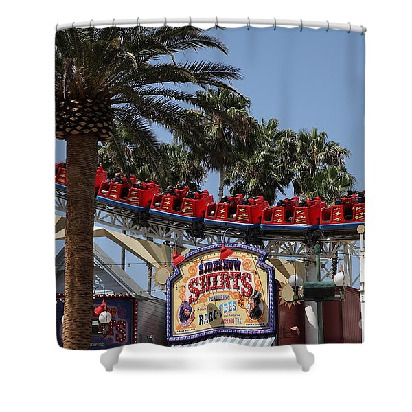 Roller Coaster - 5D17628 Shower Curtain by Wingsdomain Art and Photography