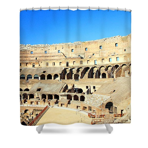 Rome Coliseum Shower Curtain by Valentino Visentini