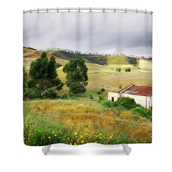Ruin in Countryside Shower Curtain by Carlos Caetano