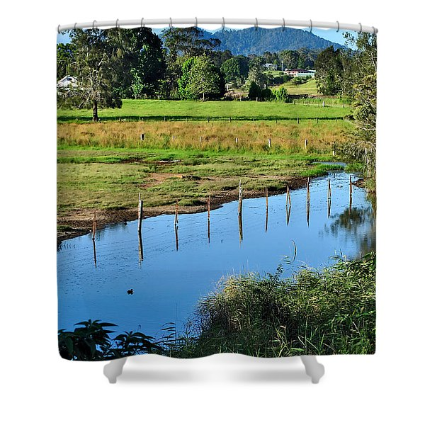 Rural Landscape after Rain Shower Curtain by Kaye Menner