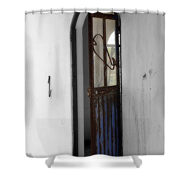 Rust Shower Curtain by Cheryl Young