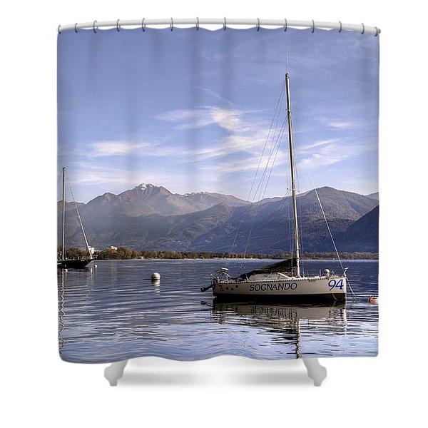 Sailing Boats Shower Curtain by Joana Kruse