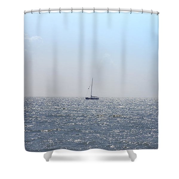 Sailing On Shower Curtain by Bill Cannon