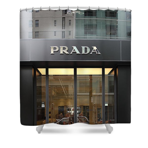 San Francisco - Maiden Lane - Prada Fashion Store - 5D17798 Shower Curtain by Wingsdomain Art and Photography