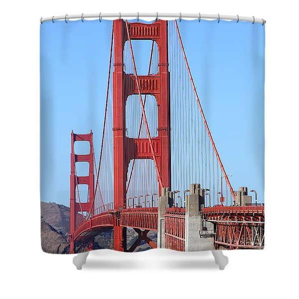 San Francisco Golden Gate Bridge . 7d8164 Shower Curtain by Wingsdomain Art and Photography