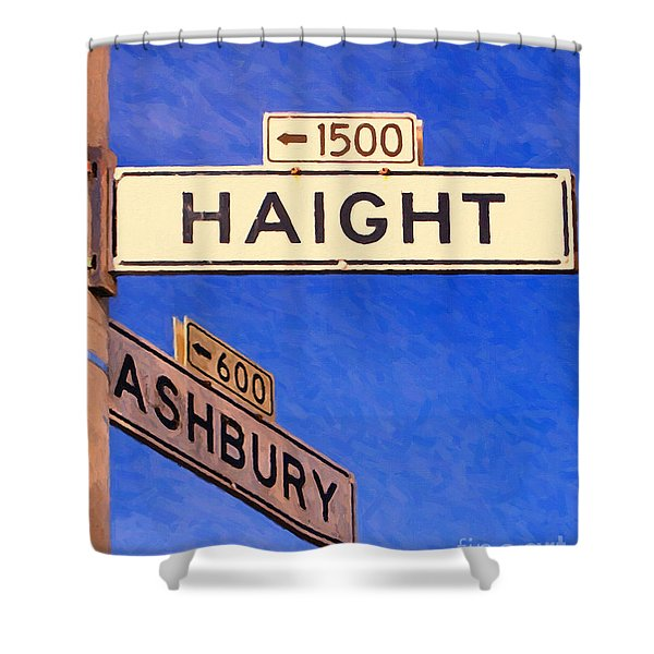 San Francisco Haight Ashbury Shower Curtain by Wingsdomain Art and Photography