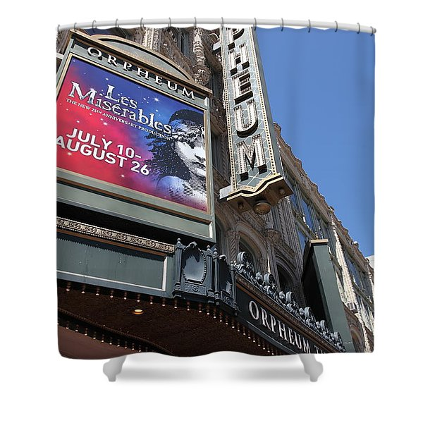 San Francisco Orpheum Theatre - 5d17990 Shower Curtain by Wingsdomain Art and Photography