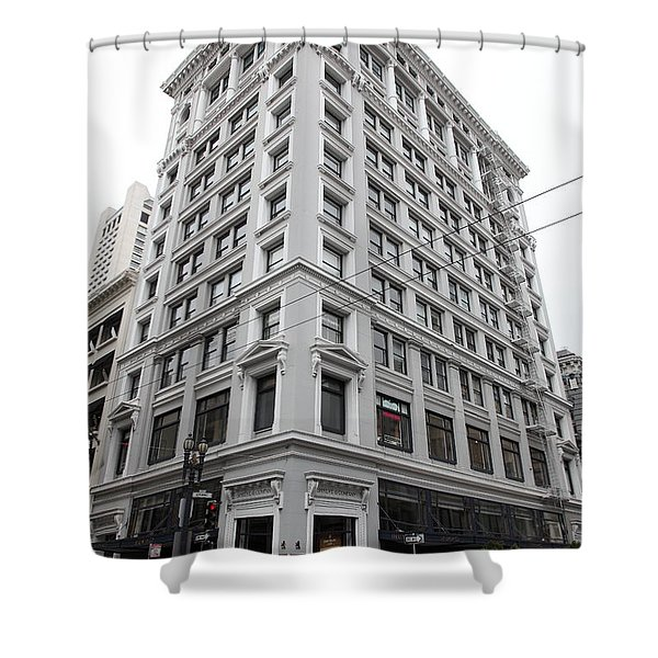 San Francisco Shreve and Company on Grant Street - 5D17918 Shower Curtain by Wingsdomain Art and Photography