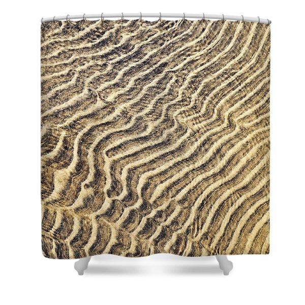 Sand ripples in shallow water Shower Curtain by Elena Elisseeva